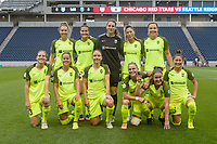 Bridgeview, IL - Wednesday August 16, 2017: Seattle Reign FC Starting XI during a regular season National Women's Soccer League (NWSL) match between the Chicago Red Stars and the Seattle Reign FC at Toyota Park. The Seattle Reign FC won 2-1.