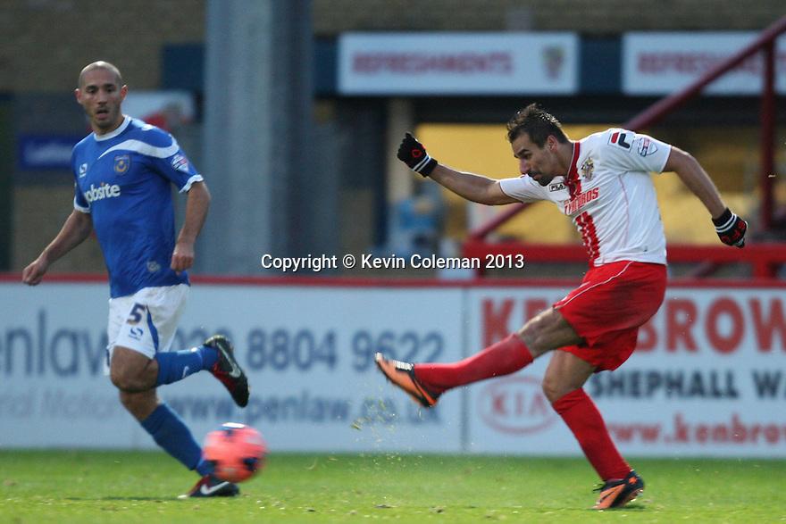 Filipe Morais of Stevenage shoots wide<br />  - Stevenage v Portsmouth - FA Cup 1st Round  - Lamex Stadium, Stevenage - 9th November, 2013<br />  © Kevin Coleman 2013