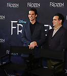 John Riddle and Greg Hildreth attends the press day for 'Frozen' The Broadway Musical on February 13, 2018 at the Highline Hotel in New York City.
