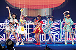 Members of the Japanese female idol group Dempagumi.inc perform during the Moshi Moshi Nippon Festival 2016 on November 27, 2016 in Tokyo, Japan. Moshi Moshi Nippon Festival 2016 aims to promote Japanese pop culture (fashion, anime, technology, music and food) to the world, and non-Japanese visitors are able to enter the event for free by showing their passport. This year's two day event included live shows by Japanese pop stars Silent Siren, Dempagumi.inc, Tempura Kids, Capsule and Kyary Pamyu Pamyu at the Tokyo Metropolitan Gymnasium. (Photo by Rodrigo Reyes Marin/AFLO)