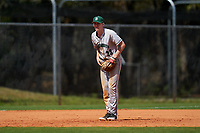 Dartmouth Big Green third baseman Connor Bertsch (23) during a game against the Omaha Mavericks on February 23, 2020 at North Charlotte Regional Park in Port Charlotte, Florida.  Dartmouth defeated Omaha 8-1.  (Mike Janes/Four Seam Images)
