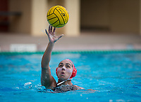 Stanford, CA - March 8, 2020: Kayla Constandse at Avery Aquatic Center. The No. 2 Stanford Women's Water Polo team beat the No. 6 Arizona State Sun Devils 9-8.