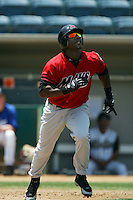 July 16 2008: Gavin Dickey of the High Desert Mavericks during game against the Rancho Cucamonga Quakes at The Epicenter in Rancho Cucamonga,CA.  Photo by Larry Goren/Four Seam Images