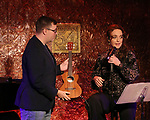 """Robbie Rozelle and Melissa Errico during her """"Sings Sondheim"""" press preview on October 3, 2018 at Feinstein's/54 Below in New York City."""