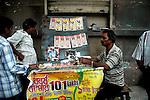 A man selling lottery tickets at a foot path of Kolkata. Kolkata, West Bengal,  India  7/18/2007.  Arindam Mukherjee/Landov