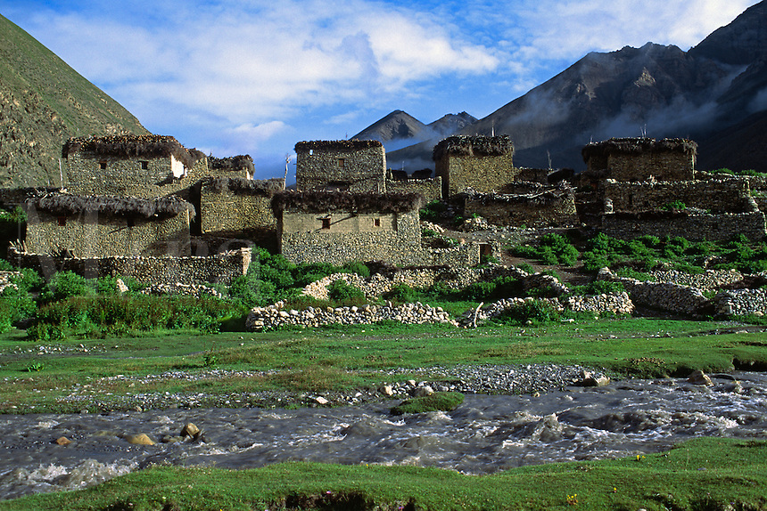 The TARAP RIVER runs past DO VILLAGE in the DO TARAP VALLEY - DOLPO DISTRICT, NEPAL