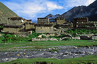 The TARAP RIVER runs past DO VILLAGE in the DO TARAP VALLEY - DOLPO DISTRICT, NEPAL