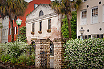 Traditional homes in Johnson's Row in Charleston, SC, USA