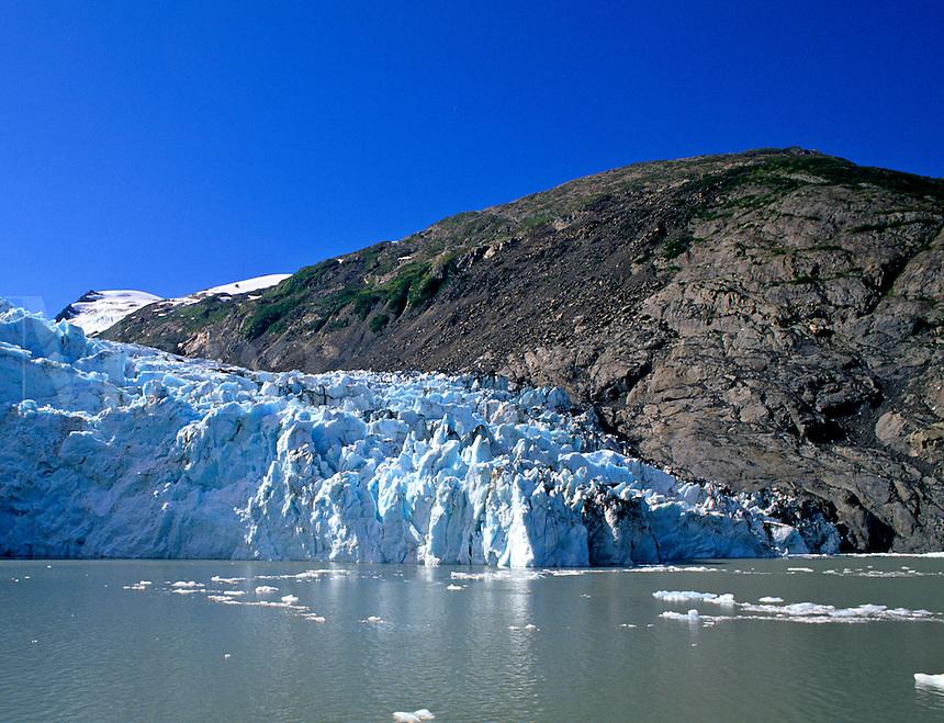 Overwhelming Portage Glacier that is Over 100 Feet High and Five Miles Deep Alaska USA