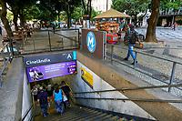 Entrada da estaçao Metro Cinelandia, Rio de Janeiro. 2019. Foto Juca Martins