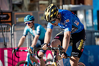 Wout van Aert (BEL/Jumbo-Visma) finishing 9th in a mountain stage won by Pogacar and keeping the GC gap down to 35 seconds behind teh new leader<br /> <br /> Stage 4 from Terni to Prati di Tivo (148km)<br /> <br /> 56th Tirreno-Adriatico 2021 (2.UWT) <br /> <br /> ©kramon