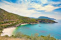 The beach Mega Drafi in Syvota, Greece