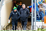 Kerry Manager Peter Keane and Kerry County Board Chairman Tim Murphy during the Allianz Football League Division 1 Round 4 match between Kerry and Meath at Fitzgerald Stadium in Killarney, on Sunday.
