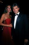 BIANCA D'AOSTA CON IL MARITO GIOVANNI ARRIVABENE<br /> DICIOTTESIMO COMPLEANNO DI ELISABETTA DE BALKANY<br /> PALAZZO VOLPI VENEZIA AGOSTO 1990