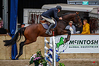 NZL-Maurice Beatson rides Central Park. Class 23: Fiber Fresh Horse 1.40m Ranking Class. 2021 NZL-Easter Jumping Festival presented by McIntosh Global Equestrian and Equestrian Entries. NEC Taupo. Saturday 3 April. Copyright Photo: Libby Law Photography