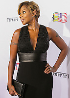 BEVERLY HILLS, CA, USA - OCTOBER 11: Mary J. Blige arrives at Ferrari's 60th Anniversary In The USA Gala held at the Wallis Annenberg Center for the Performing Arts on October 11, 2014 in Beverly Hills, California, United States. (Photo by Rudy Torres/Celebrity Monitor)