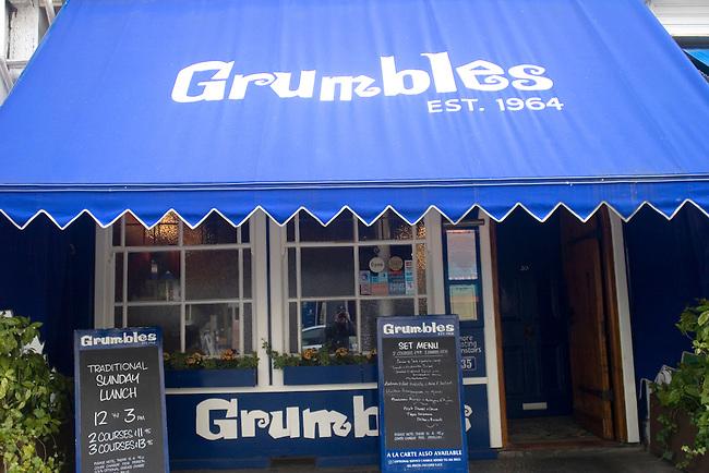 Exterior, Grumbles Restaurant, Belgrovia, London, Great Britain, Europe