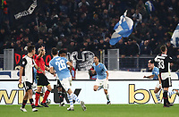 Football, Serie A: S.S. Lazio - Juventus Olympic stadium, Rome, December 7, 2019. <br /> Lazio's Luis Felipe (c) celebrates after scoring during the Italian Serie A football match between S.S. Lazio and Juventus at Rome's Olympic stadium, Rome on December 7, 2019.<br /> UPDATE IMAGES PRESS/Isabella Bonotto