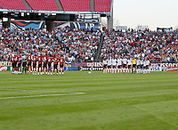 US Men's National Team and Trinidad & Tobago take a moment of silence.FIFA World Cup qualifiers U.S. Men's National Team vs. Trinidad & Tobago. US defeated Trinidad & Tobago 3-0 at LP Field in Nashville, Tennessee on April 1, 2009.
