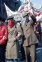"""- Milan, manifestation of the organization """"Proletarian in Uniform"""" (1976)....- Milano, manifestazione dell'organizzazione """"Proletari in Divisa"""" (1976)"""
