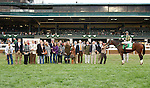 """October 05, 2014:  Don't Tell Sophia and jockey Joseph Rocco Jr win the 59th running of The Juddmonte Spinster Grade 1 $500,000 """"Win and You're In Ladies' Classic Division"""" for owner Jerry Namy and owner/Trainer Philip A. Sims .  Candice Chavez/ESW/CSM"""