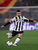 Calcio, Serie A: Roma vs Udinese. Roma, stadio Olimpico, 17 marzo 2014.<br /> Udinese forward Antonio Di Natale in action during the Italian Serie A football match between AS Roma and Udinese at Rome's Olympic stadium, 17 March 2014.<br /> UPDATE IMAGES PRESS/Isabella Bonotto