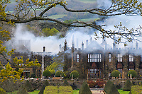 Bmth News (01202 558833)<br /> Pic:  GrahamHunt/BNPS<br /> <br /> A £15m stately home has gone back on the market for a cut-price £2.5m after it was burnt to the ground in a suspected arson attack.Grade I listed Parnham House, near Beaminster, Dorset, is now just a charred shell of the magnificent mansion it once was following the blaze in April 2017.Its owner, hedge fund manager Michael Treichl, was arrested on suspicion of arson only to later drown in an apparent suicide. A sale for £3m was agreed for the Elizabethan manor fell through earlier this year and it has now been listed for sale again.Despite initial vows by the family that they would rebuild the 500-year-old home, receivers have been brought in by the mortgage lenders to sell what remains of the property.