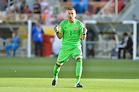 Santa Clara, CA - Friday June 03, 2016: Colombia goalkeeper David Ospina (1) during a Copa America Centenario Group A match between United States (USA) and Colombia (COL) at Levi's Stadium.