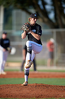 Caden Spivey (15) during the WWBA World Championship at Lee County Player Development Complex on October 8, 2020 in Fort Myers, Florida.  Caden Spivey, a resident of Soperton, Georgia who attends Vidalia Comprehensive High School, is committed to Notre Dame.  (Mike Janes/Four Seam Images)