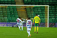 29th December 2020; Carrow Road, Norwich, Norfolk, England, English Football League Championship Football, Norwich versus Queens Park Rangers; Bright Osayi-Samuel of Queens Park Rangers scores from the penalty spot for 1-1 in the 84th minute