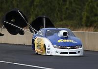 Mar. 17, 2013; Gainesville, FL, USA; NHRA pro stock driver Rodger Brogdon during the Gatornationals at Auto-Plus Raceway at Gainesville. Mandatory Credit: Mark J. Rebilas-
