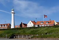 Leuchtturm in Rønne, Insel Bornholm, Dänemark, Europa<br /> Lighthouse, Roenne, Isle of Bornholm, Denmark