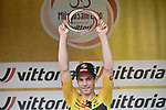 Wout Van Aert (BEL) Team Jumbo-Visma wins the 111th edition of Milan- San Remo 2020, running 305km from Milan to San Remo, Italy. 8th August 2020.<br /> Picture: LaPresse/Marco Alpozzi | Cyclefile<br /> <br /> All photos usage must carry mandatory copyright credit (© Cyclefile | LaPresse/Marco Alpozzi)
