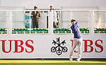 Javier Colomo of Spain tees off the first hole during the 58th UBS Hong Kong Open as part of the European Tour on 08 December 2016, at the Hong Kong Golf Club, Fanling, Hong Kong, China. Photo by Marcio Rodrigo Machado / Power Sport Images