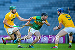Niall McKenna, Antrim in action against Shane Conway, Kerry during the Joe McDonagh Cup Final match between Kerry and Antrim at Croke Park in Dublin.