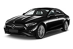 2022 Mercedes Benz CLS-Coupe AMG-Line 4 Door Sedan Angular Front automotive stock photos of front three quarter view