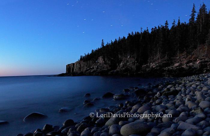 Starry Night, Otter Cliffs  #A59