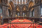 UK, Scotland, Glasgow, Glasgow Cathedaral (St. Mungo Cathedral) Interior contstucted in the 12th century