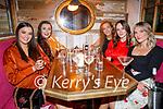 Karla Kelly, Amy Jordan, Grainne O'Carroll, Freda Dema and Jessica O'Rourke enjoying the evening in Benners Hotel on Saturday.