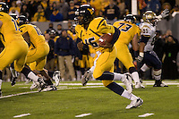 01 December 2007: WVU quarterback Jarrett Brown (16)..The Pitt Panthers upset the West Virginia Mountaineers 13-9 on December 01, 2007 in the 100th edition of the Backyard Brawl at Mountaineer Field, Morgantown, West Virginia.