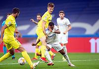 25th September 2021; Estadio Santiagp Bernabeu, Madrid, Spain; Men's La Liga, Real Madrid CF versus Villarreal CF; Rodrigo Goes of Real Madrid clashes with Juan Foyth of Villarreal inside the penalty area