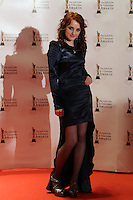 12/2/11 Ivana Lynch on the red carpet at the 8th Irish Film and Television Awards at the Convention centre in Dublin. Picture:Arthur Carron/Collins