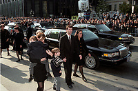 FILE PHOTO -  Francois Bourassa and his mother attend <br /> Robert Bourassa Funerals at Notre-Dame Basilica, October 20, 1996.<br /> <br /> PHOTO : Agence quebec Presse