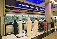 Money exchange bureau at the Mall of the Emirates. Dubai. United Arab Emirates.