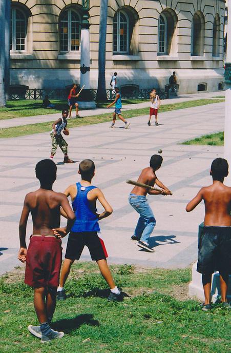 A baseball game in Havana. MARK TAYLOR GALLERY