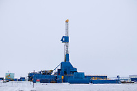 Prudhoe Bay oil drilling station, Deadhorse, Arctic, Alaska