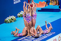 Team Ukraine UKR<br /> Synchro Women's Team Free Final Free Routine - Kazan Arena<br /> Day08 31/07/2015<br /> XVI FINA World Championships Aquatics Swimming<br /> Kazan Tatarstan RUS July 24 - Aug. 9 2015 <br /> Photo A.Masini/Deepbluemedia/Insidefoto