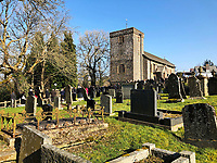 "Pictured: St Cadmarch's Church. Saturday 24 February 2018<br /> Re: The funeral of David Cuthbertson and his five children who died in a house fire in Llangammarch Wells, Powys, will take place at St Cadmarch's Church, on Saturday 24 February 2018.<br /> 68 year old David Cuthbertson, 68, died in the fire in October along with children Gypsy Grey Raine, 4, Patch Raine, 6, Misty Raine, 9, Reef Raine, 10, and Just Raine, 11.<br /> Three other children escaped the fire. The cause is being treated as unexplained.<br /> Dyfed Powys Police previously said an operation to dismantle about tonnes of bricks and mortar from the gutted house was being done ""brick by brick"" so that evidence is preserved."