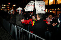 Pro-Palestinian protesters clashed with police as they held a counter demonstration against pro-Israel campaigners in the Norwegian capital Oslo. Violent clashes lasted for hours  in the centre of Oslo. Both groups came to the streets as a result of the violence in Gaza. Israeli forces began a series of air strikes on the Gaza Strip on the 27th of December in retaliation against Hamas rockets fired into Israel. After eight days of bombardment, leaving over 400 Palestinians and four Israelis dead, Israeli tanks launched a ground invasion on the 4th of January.