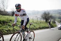 Heinrich Haussler (AUS/IAM) on the Kanarieberg<br /> <br /> De Ronde van Vlaanderen 2016 recon with Team IAM